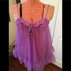 Vintage Erica Loren purple babydoll nightie